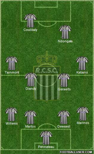 Sporting du Pays de Charleroi 4-4-1-1 football formation