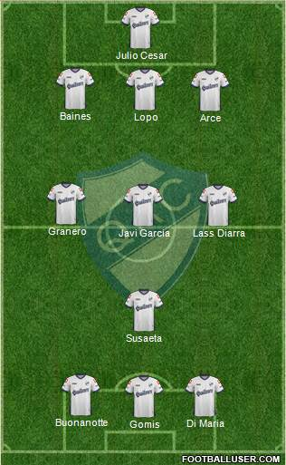 Quilmes 3-5-2 football formation