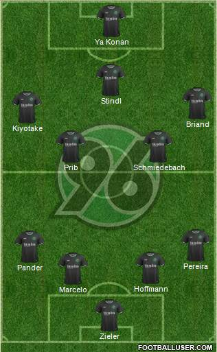 Hannover 96 4-4-1-1 football formation