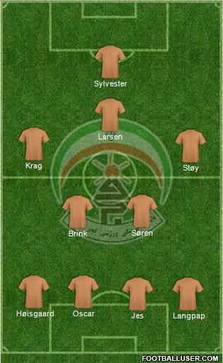 Moghavemat Shahid Sepasi Shiraz 4-5-1 football formation