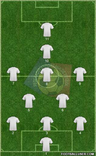 Andorra 5-4-1 football formation