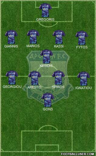 AMO Apollon Limassol 4-1-4-1 football formation