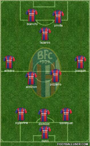 Bologna 3-4-1-2 football formation