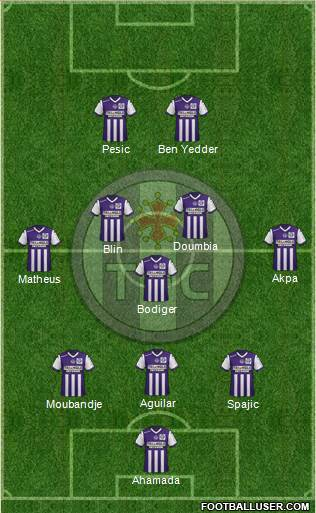 Toulouse Football Club 3-5-2 football formation
