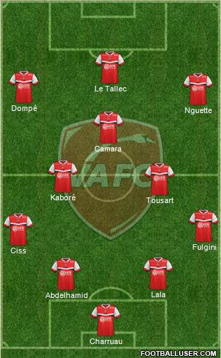 Valenciennes Football Club 4-2-3-1 football formation