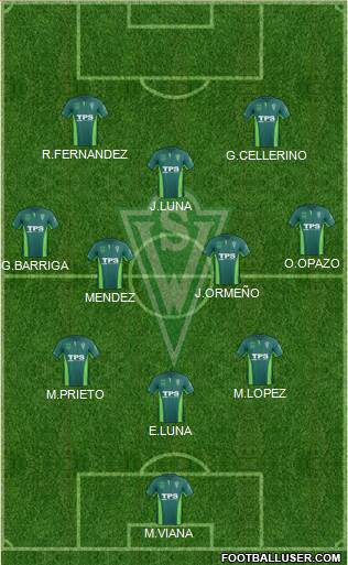 CD Santiago Wanderers S.A.D.P. 4-4-2 football formation