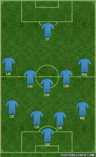 Euro 2012 Team 5-4-1 football formation