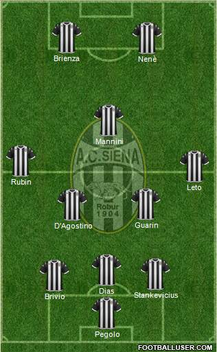 Siena 3-5-2 football formation