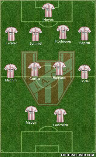 Instituto de Córdoba 4-4-2 football formation
