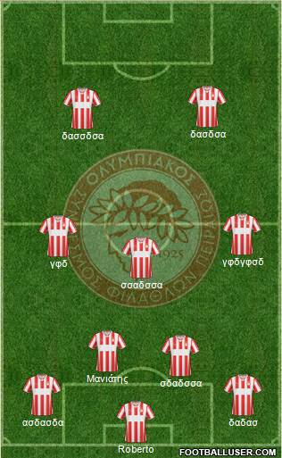 Olympiakos SF Piraeus 4-3-3 football formation