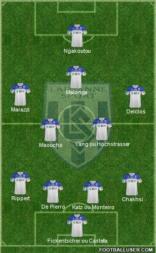 FC Lausanne-Sport 4-4-1-1 football formation
