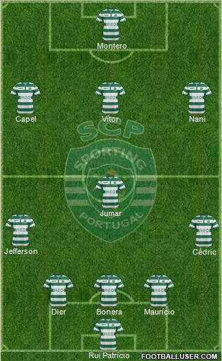 Sporting Clube de Portugal - SAD 5-4-1 football formation