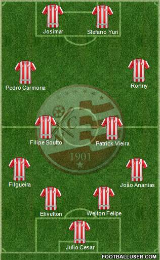 C Náutico Capibaribe 4-4-2 football formation