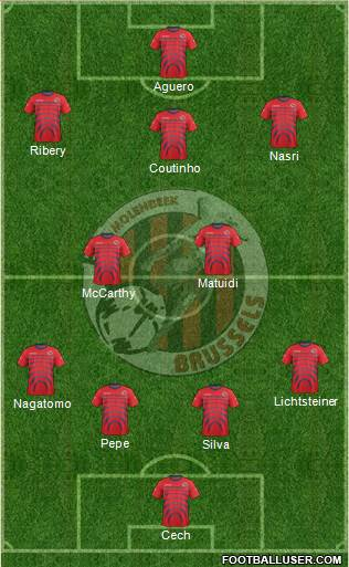 FC Molenbeek Brussels 4-2-3-1 football formation