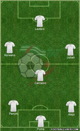 Algeria 4-5-1 football formation