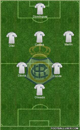 R.C. Recreativo de Huelva S.A.D. 5-4-1 football formation