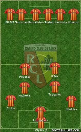 Racing Club de Lens 5-3-2 football formation