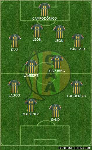 Aldosivi 4-4-2 football formation