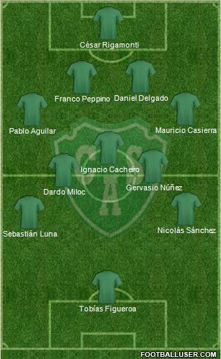 Sarmiento de Junín 4-5-1 football formation
