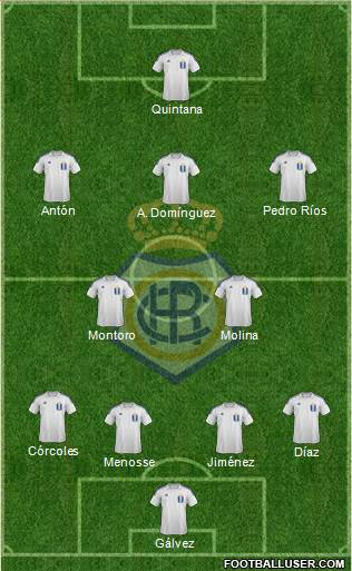 R.C. Recreativo de Huelva S.A.D. 4-2-3-1 football formation