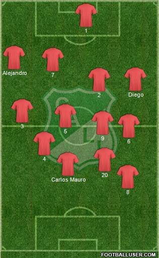 AC Deportivo Cali 5-4-1 football formation