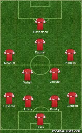 Leyton Orient 4-4-1-1 football formation