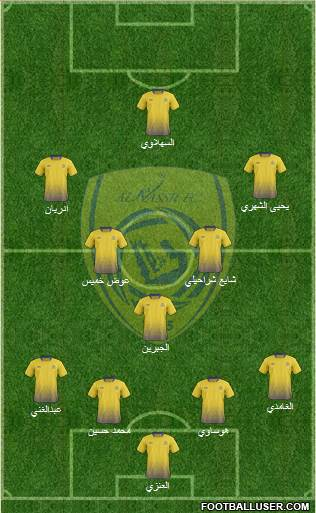 Al-Nassr (KSA) 4-3-2-1 football formation
