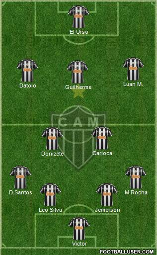 C Atlético Mineiro 4-4-1-1 football formation