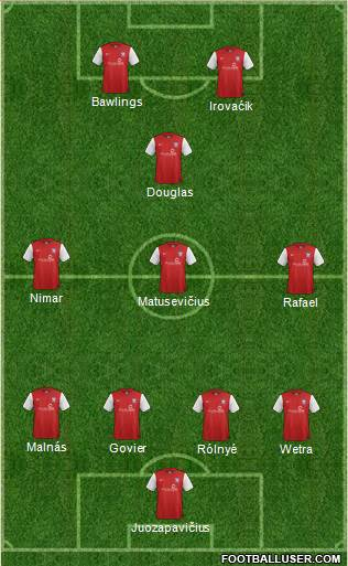 York City 3-5-2 football formation