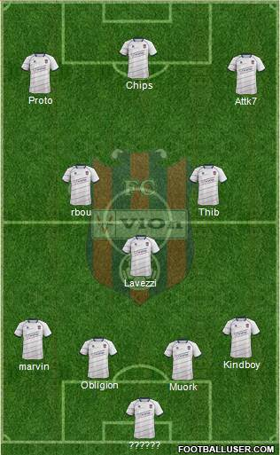 FC ViOn Zlate Moravce 5-4-1 football formation