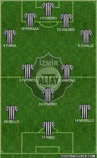 Altay 4-2-3-1 football formation