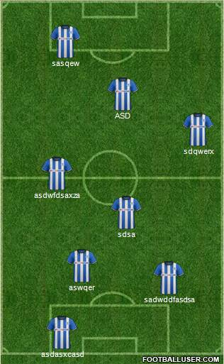 Wigan Athletic 4-3-3 football formation