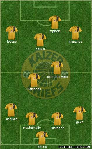 Kaizer Chiefs 4-2-4 football formation