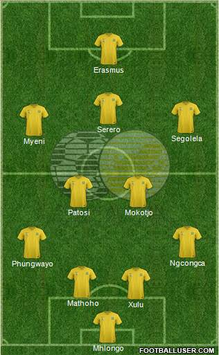 South Africa 3-5-1-1 football formation