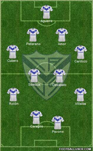 Vélez Sarsfield 3-5-2 football formation