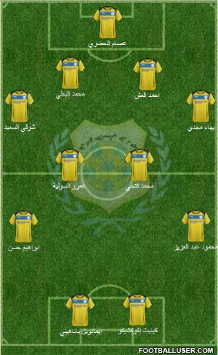 Ismaily Sporting Club 4-4-2 football formation