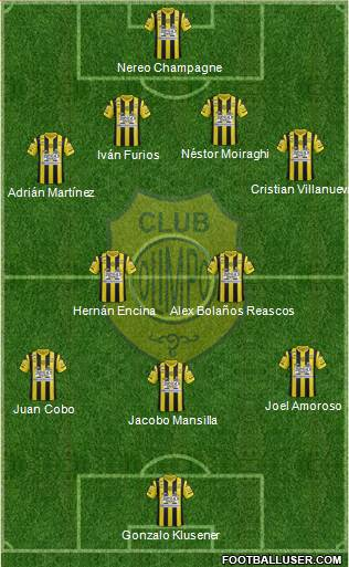 Olimpo de Bahía Blanca 4-2-3-1 football formation