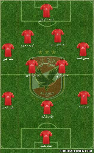 Al-Ahly Sporting Club 4-5-1 football formation