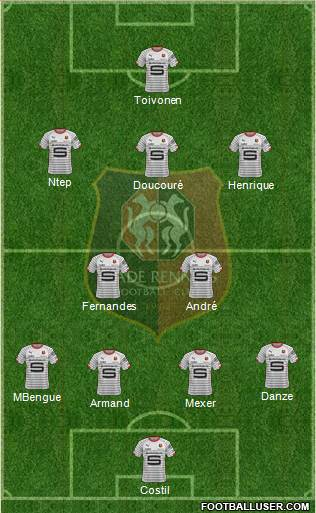 Stade Rennais Football Club 4-2-3-1 football formation