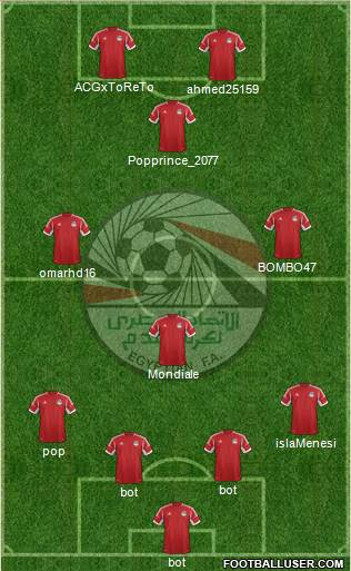 Egypt 3-5-2 football formation