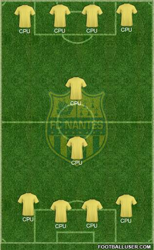 FC Nantes 4-5-1 football formation