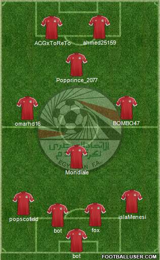 Egypt 4-1-4-1 football formation