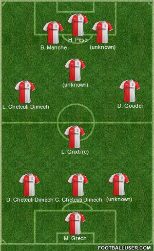 Woking 3-4-2-1 football formation