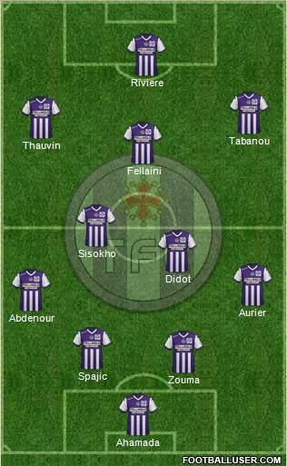 Toulouse Football Club 3-5-1-1 football formation