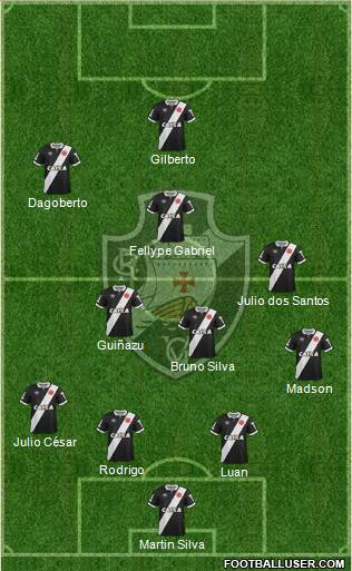 CR Vasco da Gama 4-4-1-1 football formation