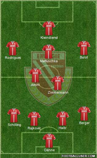 FC Energie Cottbus 4-2-3-1 football formation