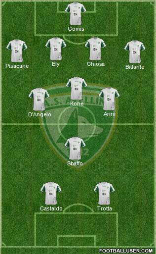 Avellino 4-3-1-2 football formation