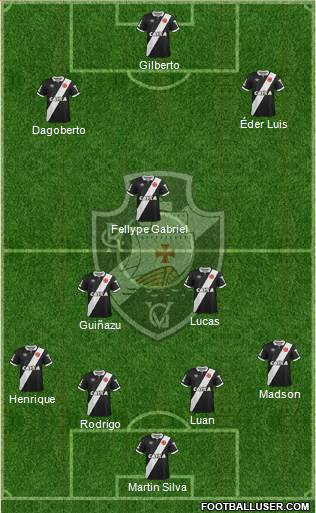 CR Vasco da Gama 4-2-1-3 football formation