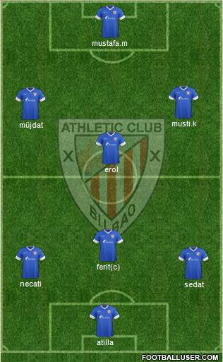 Bilbao Athletic 4-1-3-2 football formation