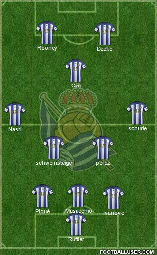 Real Sociedad S.A.D. 3-5-2 football formation
